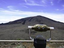 Άποψη ηφαιστείων σχετικά με τη Νήσο Ρεϊνιόν Στοκ φωτογραφία με δικαίωμα ελεύθερης χρήσης