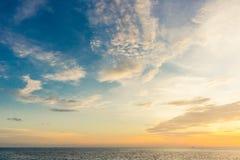 Άποψη ηλιοβασιλέματος από το νησί Ko Tao, Ταϊλάνδη Στοκ Φωτογραφίες