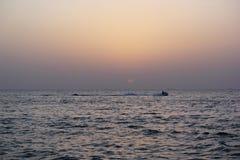 Άποψη ηλιοβασιλέματος σε Atlantis Ντουμπάι Στοκ Φωτογραφία