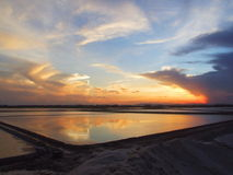 Άποψη ηλιοβασιλέματος στοκ εικόνα