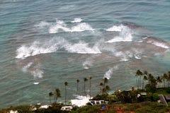 Άποψη θάλασσας από το διαμάντι επικεφαλής Χονολουλού Χαβάη στοκ εικόνες με δικαίωμα ελεύθερης χρήσης