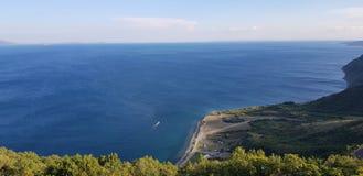 Άποψη θάλασσας Tekirdag Μια άκρη απότομων βράχων στοκ φωτογραφία με δικαίωμα ελεύθερης χρήσης