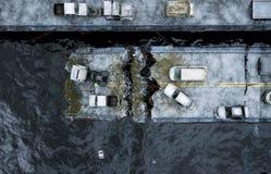 Άποψη θάλασσας αποκάλυψης γέφυρα που καταστρέφετα&i Έννοια Armageddon τρισδιάστατη απόδοση Στοκ εικόνες με δικαίωμα ελεύθερης χρήσης