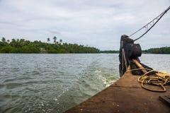 Άποψη θάλασσας από τη βάρκα στοκ εικόνες με δικαίωμα ελεύθερης χρήσης
