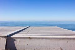 Άποψη θάλασσας από τον περίπατο Στοκ εικόνα με δικαίωμα ελεύθερης χρήσης