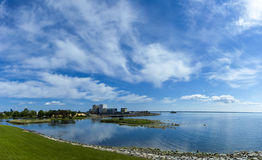 Άποψη θάλασσας από το κάστρο Kalmar Στοκ εικόνα με δικαίωμα ελεύθερης χρήσης