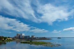 Άποψη θάλασσας από το κάστρο Kalmar Στοκ φωτογραφίες με δικαίωμα ελεύθερης χρήσης