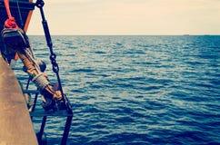 Άποψη θάλασσας από το κατάστρωμα Στοκ Εικόνες