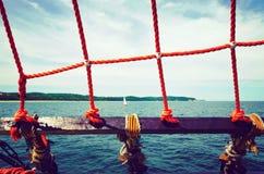 Άποψη θάλασσας μέσω του σαβάνου Στοκ Εικόνες