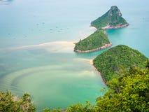 Άποψη θάλασσας Lom Muak Khao Στοκ εικόνες με δικαίωμα ελεύθερης χρήσης