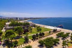 Άποψη Θεσσαλονίκης από το διάσημο άσπρο πύργο, Ελλάδα στοκ εικόνα
