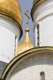Άποψη διάσημου ο Annunciation καθεδρικός ναός στη Μόσχα Κρεμλίνο, Rus Στοκ Εικόνες