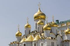 Άποψη διάσημου ο Annunciation καθεδρικός ναός στη Μόσχα Κρεμλίνο, Rus Στοκ Εικόνα