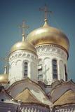 Άποψη διάσημου ο Annunciation καθεδρικός ναός στη Μόσχα Κρεμλίνο, Rus Στοκ Φωτογραφίες