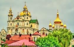 Άποψη ιερού Dormition Pochayiv Lavra, ένα ορθόδοξο μοναστήρι σε Ternopil Oblast της Ουκρανίας Στοκ εικόνα με δικαίωμα ελεύθερης χρήσης