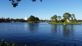 Άποψη λιμνών EPCOT της Disney Στοκ Εικόνα