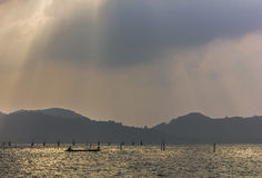 Άποψη λιμνών Songkhla απογεύματος Στοκ φωτογραφία με δικαίωμα ελεύθερης χρήσης