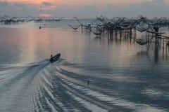 Άποψη διχτυών ψαρέματος Στοκ Εικόνα