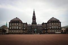 Άποψη κάστρων Christiansborg στην Κοπεγχάγη, Δανία Στοκ φωτογραφίες με δικαίωμα ελεύθερης χρήσης