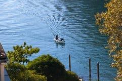 Άποψη κάτω από τη λίμνη από Riva Del Garda Ιταλία Στοκ εικόνες με δικαίωμα ελεύθερης χρήσης