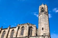 Άποψη καθεδρικών ναών της Βαρκελώνης, γοτθικό τέταρτο στη Βαρκελώνη, Ισπανία στοκ εικόνες με δικαίωμα ελεύθερης χρήσης