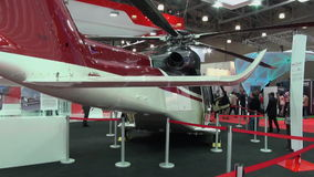 Άποψη και εσωτερικό εκτελεστικό VIP ελικόπτερο φιλμ μικρού μήκους