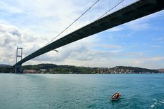 Άποψη και θέα Bosphorus, Ιστανμπούλ, Τουρκία στοκ φωτογραφία