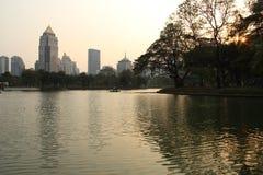 Άποψη και πάρκο πόλεων στη Μπανγκόκ στοκ εικόνες με δικαίωμα ελεύθερης χρήσης