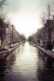 Άποψη καναλιών του Άμστερνταμ Στοκ Φωτογραφίες