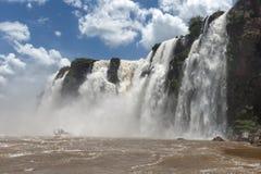 Άποψη καταρρακτών Iguazu από την αργεντινή πλευρά Στοκ Εικόνα
