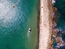 Άποψη κηφήνων της ναυσιπλοΐας δύο βαρκών στοκ φωτογραφία με δικαίωμα ελεύθερης χρήσης