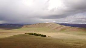 Άποψη κηφήνων του μογγολικού τοπίου απόθεμα βίντεο