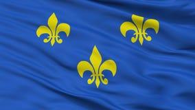 Άποψη κινηματογραφήσεων σε πρώτο πλάνο της Fleur de Lis Flag απεικόνιση αποθεμάτων