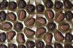 Άποψη κινηματογραφήσεων σε πρώτο πλάνο του κιβωτίου των σοκολατών, άποψη άνωθεν στοκ φωτογραφίες