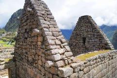 Άποψη κινηματογραφήσεων σε πρώτο πλάνο Picchu Machu στις καταστροφές στοκ φωτογραφίες