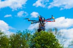 Άποψη κινηματογραφήσεων σε πρώτο πλάνο ενός hexacopter Στοκ Φωτογραφία