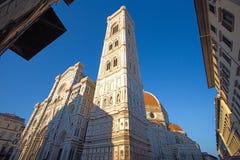 Άποψη κινηματογραφήσεων σε πρώτο πλάνο: Η βασιλική της Σάντα Μαρία del Fiore στη Φλωρεντία, Ιταλία Στοκ Εικόνες