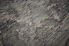 Άποψη κινηματογραφήσεων σε πρώτο πλάνο της ραγισμένης στερεάς φυσικής πέτρας Στοκ Φωτογραφίες