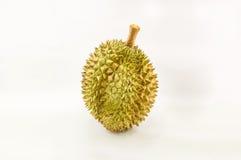 Άποψη κινηματογραφήσεων σε πρώτο πλάνο durian που απομονώνεται στο άσπρο υπόβαθρο, βασιλιάς του τ Στοκ Φωτογραφία