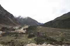 Άποψη κοιλάδων κοντά σε Lachung, Sikkim, Ινδία στοκ εικόνα