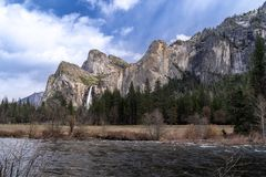 Άποψη κοιλάδων Yosemite Στοκ εικόνα με δικαίωμα ελεύθερης χρήσης