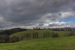 Άποψη κοντά στο χωριό Horni Studenky στην περιοχή Zabreh στοκ εικόνα με δικαίωμα ελεύθερης χρήσης