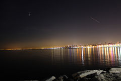 Άποψη Κωνσταντινούπολη νύχτας Στοκ εικόνες με δικαίωμα ελεύθερης χρήσης