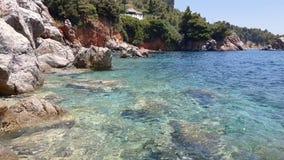 Άποψη κόλπων ενός νησιού της Ελλάδας φιλμ μικρού μήκους