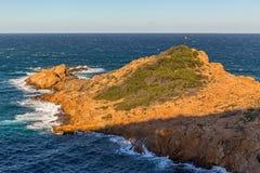 Άποψη Κόστα Μπράβα από τη Cami de Ronda Στοκ Φωτογραφία