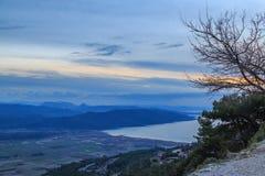 Άποψη κόλπων Gokova ariel από το βουνό Στοκ Εικόνες