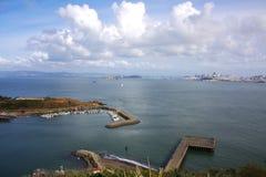 Άποψη κόλπων Hoseshoe και πόλεων του Σαν Φρανσίσκο στοκ φωτογραφίες