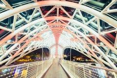 Άποψη λεπτομέρειας της γέφυρας ειρήνης στο Tbilisi, Γεωργία Στοκ Φωτογραφίες