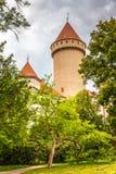Άποψη λεπτομέρειας του πύργου Konopiste, τοποθετημένο σημείο της Πράγας στοκ εικόνα