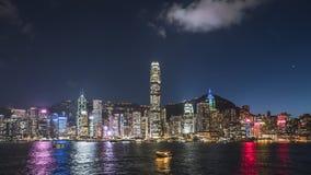 Άποψη λιμενικής νύχτας Βικτώριας Χονγκ Κονγκ στοκ φωτογραφίες με δικαίωμα ελεύθερης χρήσης